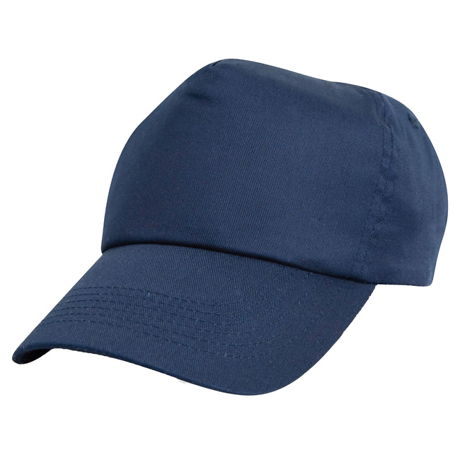 Red - Front - Result Unisex Childrens-Kids Plain Basebll Cap (Pack of 2)