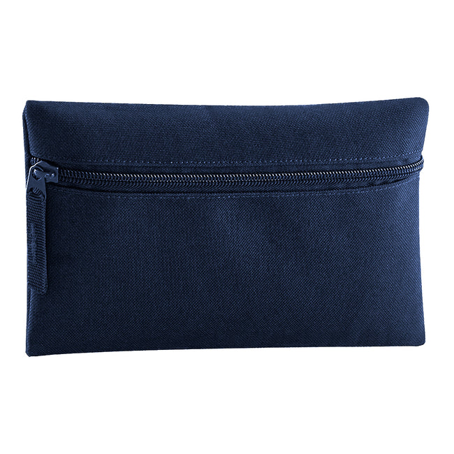 Burgundy - Front - Quadra Classic Zip Up Pencil Case (Pack of 2)
