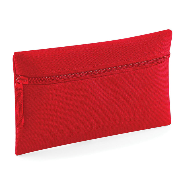 Classic Red - Back - Quadra Classic Zip Up Pencil Case (Pack of 2)
