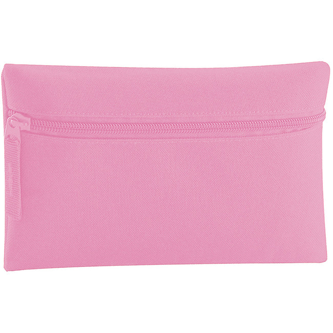 Classic Pink - Front - Quadra Classic Zip Up Pencil Case (Pack of 2)