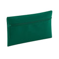Bottle Green - Front - Quadra Classic Zip Up Pencil Case (Pack of 2)