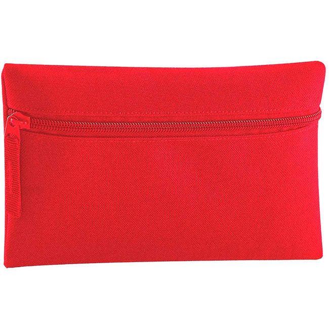 Classic Red - Front - Quadra Classic Zip Up Pencil Case (Pack of 2)