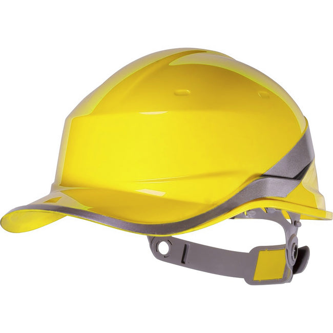 Yellow - Front - Venitex Hi-Vis Baseball PPE Safety Helmet (Pack of 2)