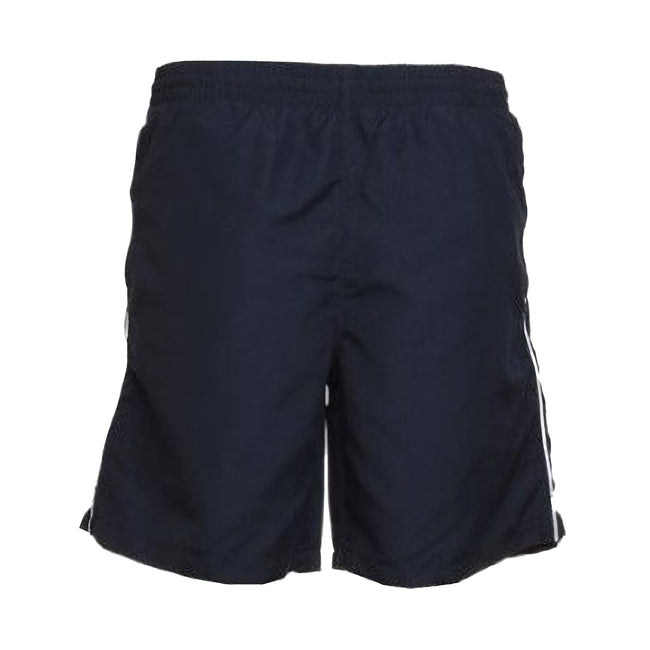 Navy-White - Front - Gamegear® Track Sports Shorts - Mens Sportswear