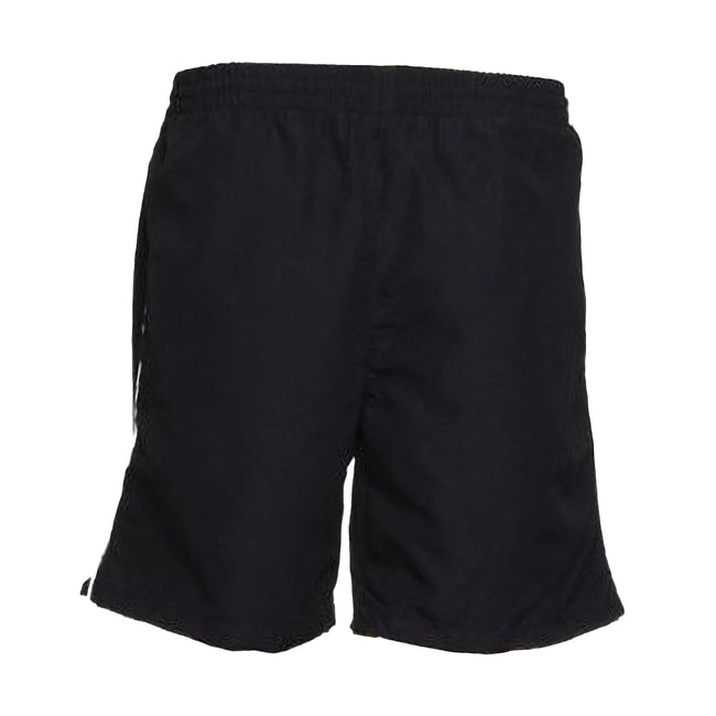 Black-White - Front - Gamegear® Track Sports Shorts - Mens Sportswear