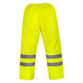 Black - Front - Yoko Mens Hi-Vis Waterproof Contractor Over Trousers (Pack of 2)