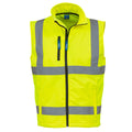 Hi Vis Orange-Navy - Front - Yoko Mens Hi Vis Softshell Bodywarmer - Workwear (Pack of 2)