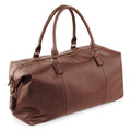 Black - Front - Quadra NuHude Faux Leather Weekender Holdall Bag (Pack of 2)
