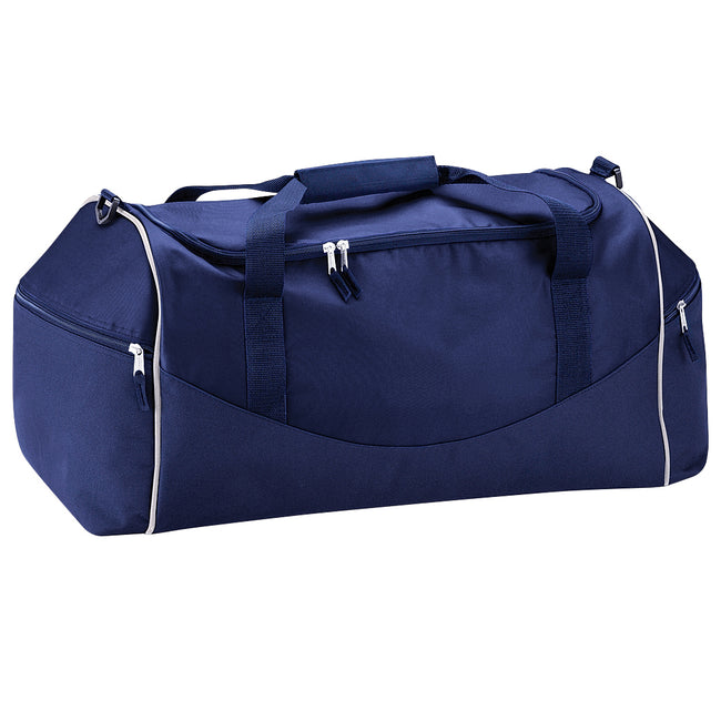 French Navy-Putty - Front - Quadra Teamwear Holdall Duffle Bag (55 Litres) (Pack of 2)