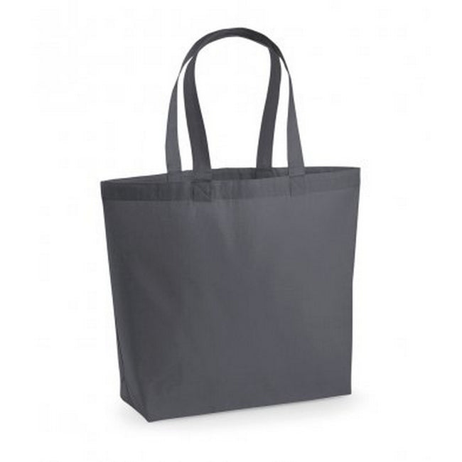 Graphite Grey - Front - Westford Mill Premium Cotton Maxi Tote Bag (Pack of 2)
