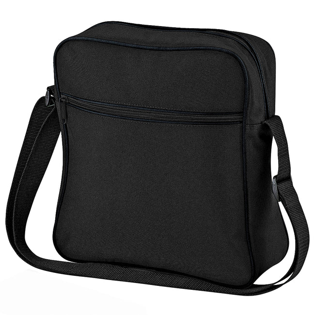 Black-Dark Graphite - Front - Bagbase Retro Flight - Travel Bag (7 Litres) (Pack of 2)