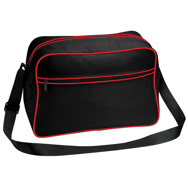 Black-Classic Red - Front - Bagbase Retro Adjustable Shoulder Bag (18 Litres) (Pack of 2)