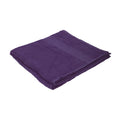 Aubergine - Front - Jassz Plain Bath Towel 70cm x 140cm (350 GSM) (Pack of 2)