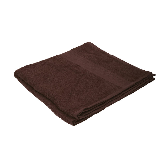 Chocolate - Front - Jassz Plain Bath Towel 70cm x 140cm (350 GSM) (Pack of 2)