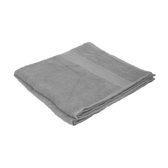 Grey - Front - Jassz Plain Bath Towel 70cm x 140cm (350 GSM) (Pack of 2)