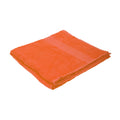 Bright Orange - Front - Jassz Plain Bath Towel 70cm x 140cm (350 GSM) (Pack of 2)
