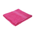Fuchsia - Front - Jassz Plain Bath Towel 70cm x 140cm (350 GSM) (Pack of 2)