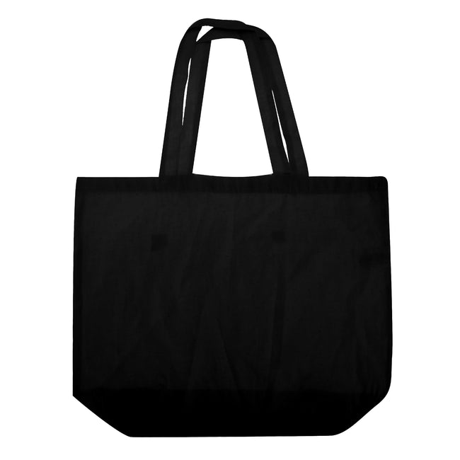 Black - Front - Westford Mill Maxi Tote-Shopper Bag For Life (Pack of 2)