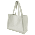 Natural - Front - Westford Mill Printers Jute Cot Shopper Bag (21 Litres) (Pack of 2)