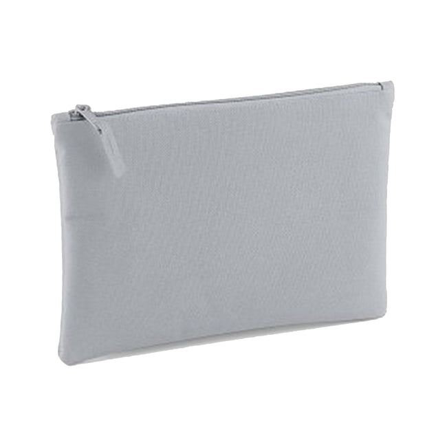 Light Grey - Front - Bagbase Grab Zip Pocket Pouch Bag (Pack of 2)