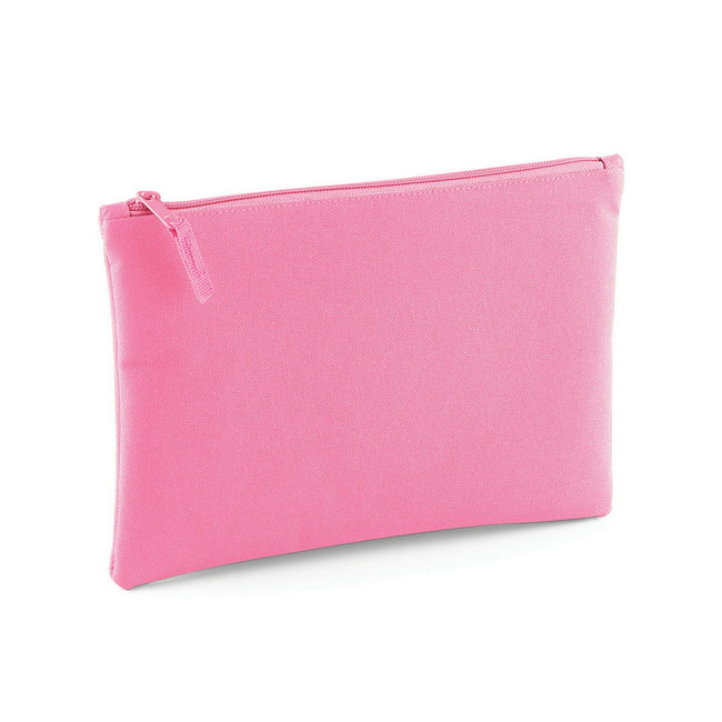 True Pink - Front - Bagbase Grab Zip Pocket Pouch Bag (Pack of 2)