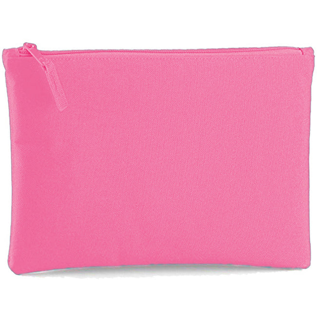 True Pink - Back - Bagbase Grab Zip Pocket Pouch Bag (Pack of 2)