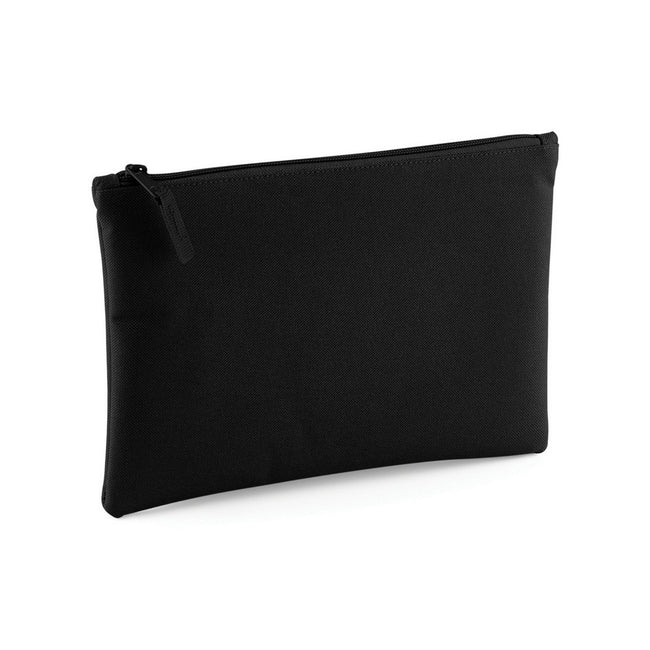 Black - Front - Bagbase Grab Zip Pocket Pouch Bag (Pack of 2)
