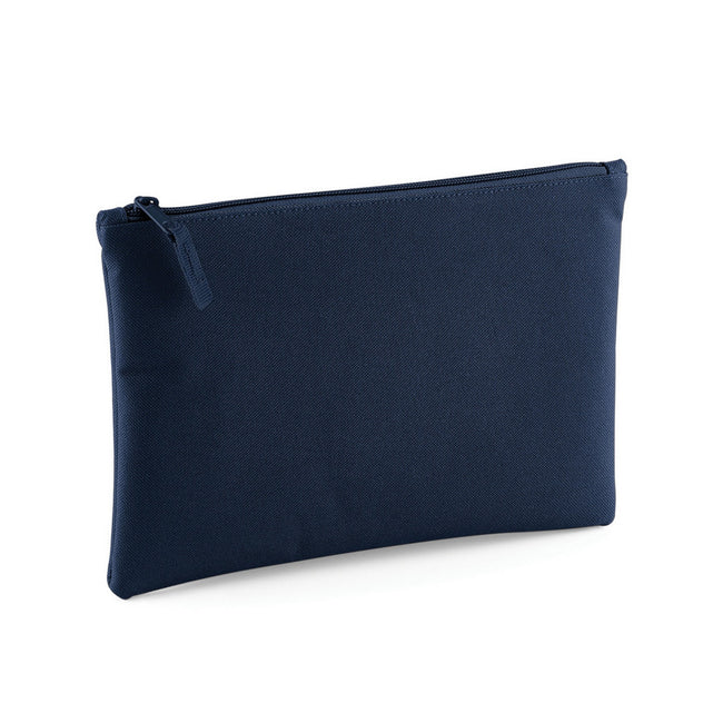 French Navy - Front - Bagbase Grab Zip Pocket Pouch Bag (Pack of 2)
