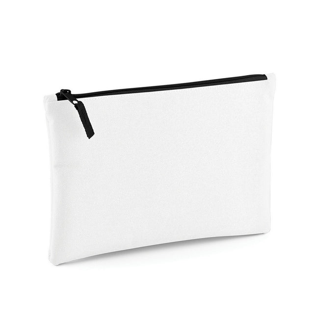 White-Black - Front - Bagbase Grab Zip Pocket Pouch Bag (Pack of 2)