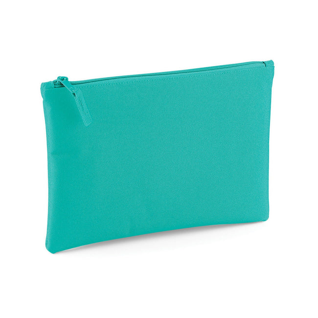 Mint - Front - Bagbase Grab Zip Pocket Pouch Bag (Pack of 2)