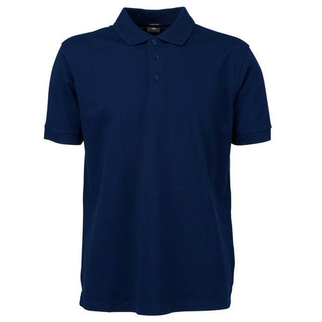 Navy Blue - Front - Tee Jays Mens Luxury Sport Polo Shirt