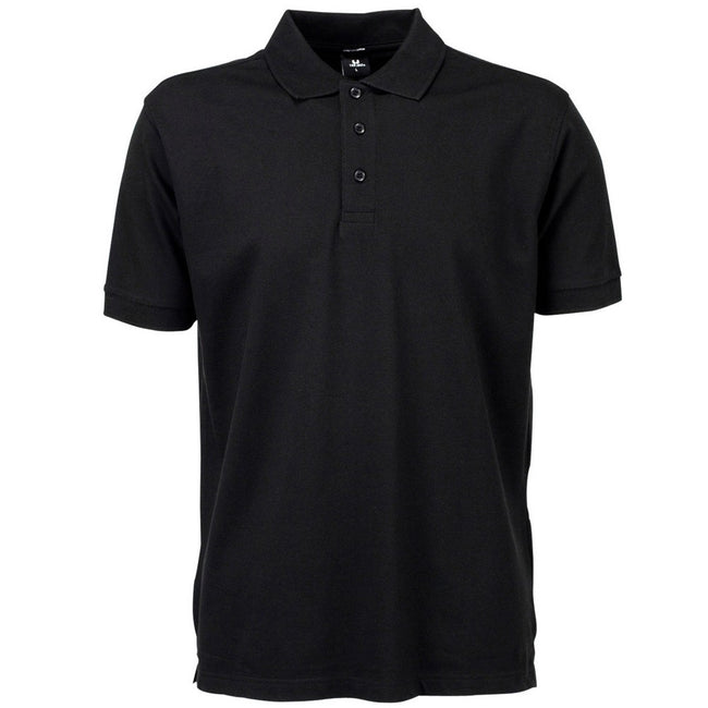 Black - Front - Tee Jays Mens Luxury Sport Polo Shirt
