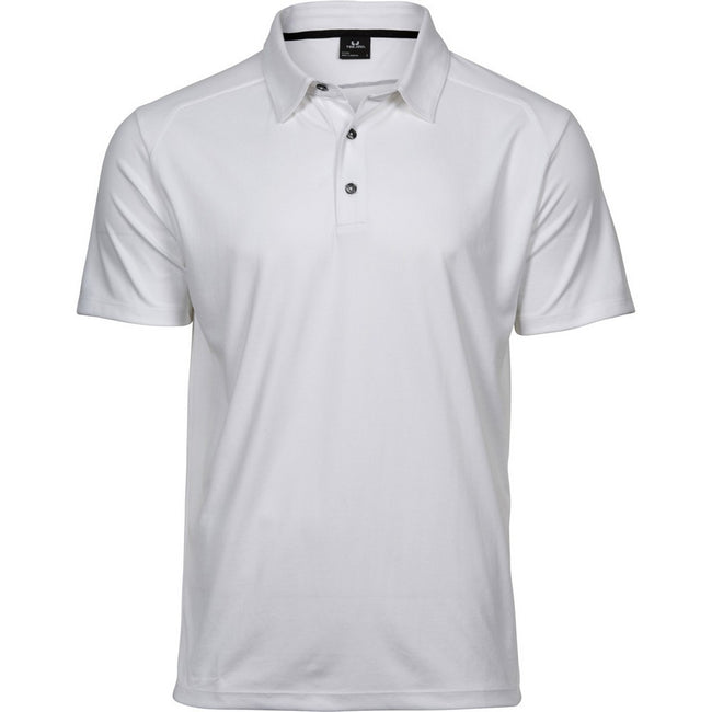 White - Front - Tee Jays Mens Luxury Sport Polo Shirt