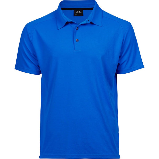 Electric Blue - Front - Tee Jays Mens Luxury Sport Polo Shirt