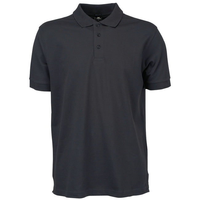 Dark Grey - Front - Tee Jays Mens Luxury Sport Polo Shirt