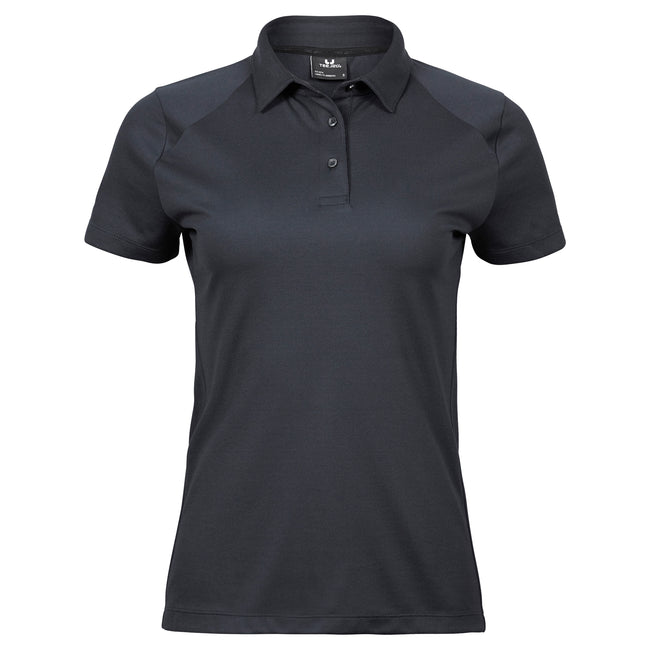 Electric Blue - Front - Tee Jays Womens-Ladies Luxury Sport Polo Shirt