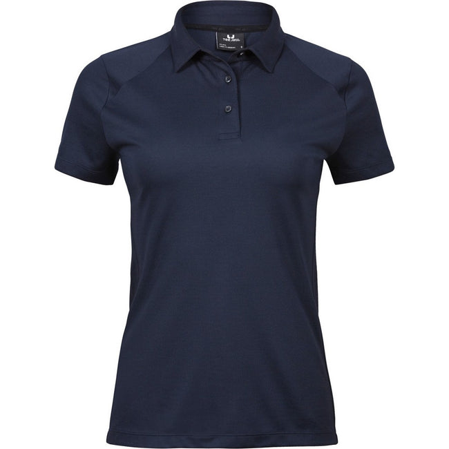 Navy Blue - Front - Tee Jays Womens-Ladies Luxury Sport Polo Shirt