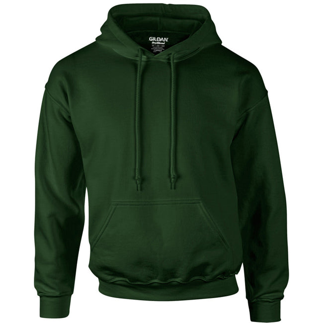 Forest Green - Front - Gildan Heavyweight DryBlend Adult Unisex Hooded Sweatshirt Top - Hoodie (13 Colours)