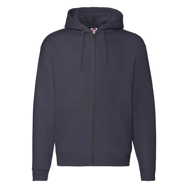 Navy Heather - Front - Fruit of the Loom Mens R Hoodie