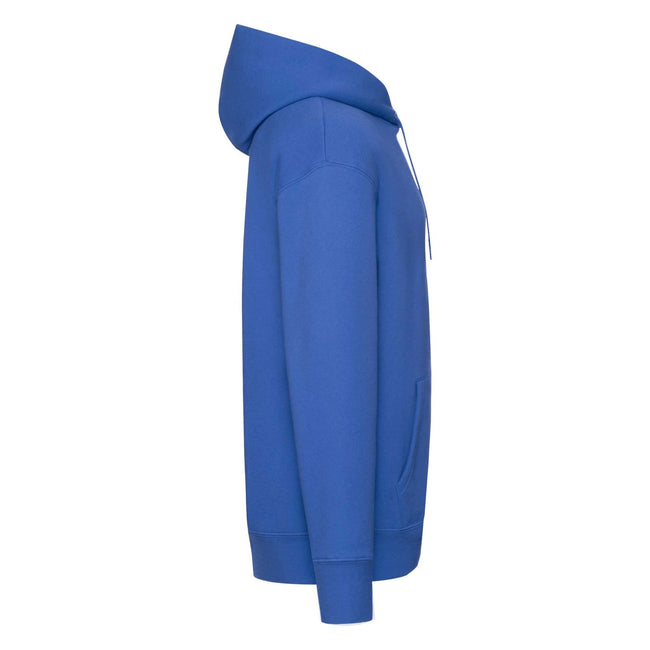 Royal Blue Heather - Back - Fruit of the Loom Mens R Hoodie