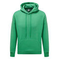 Green Heather - Front - Fruit of the Loom Mens R Hoodie