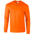 Safety Orange - Front - Gildan Mens Plain Crew Neck Ultra Cotton Long Sleeve T-Shirt