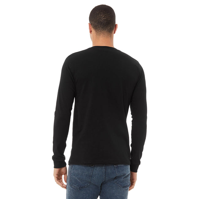 Dark Grey Heather - Front - Bella + Canvas Unisex Adult Jersey Long-Sleeved T-Shirt