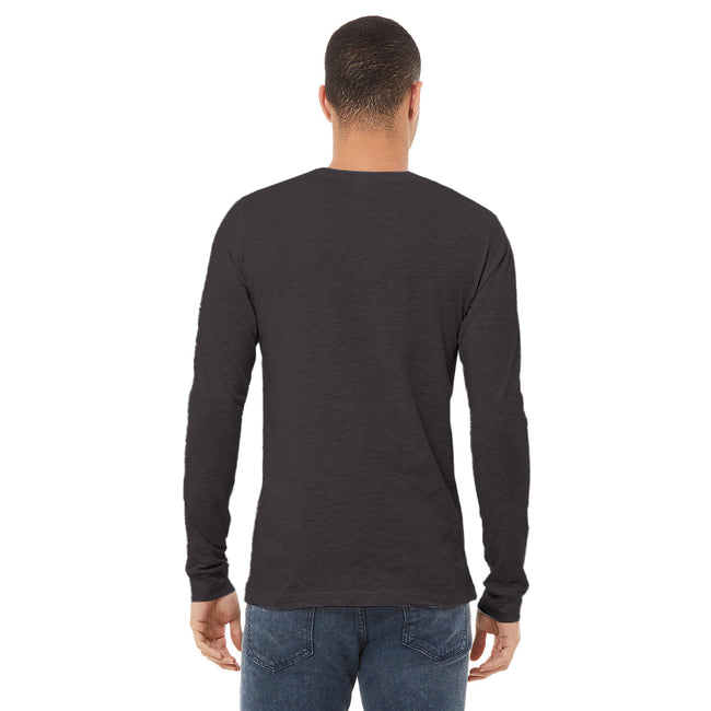 White - Front - Bella + Canvas Unisex Adult Jersey Long-Sleeved T-Shirt
