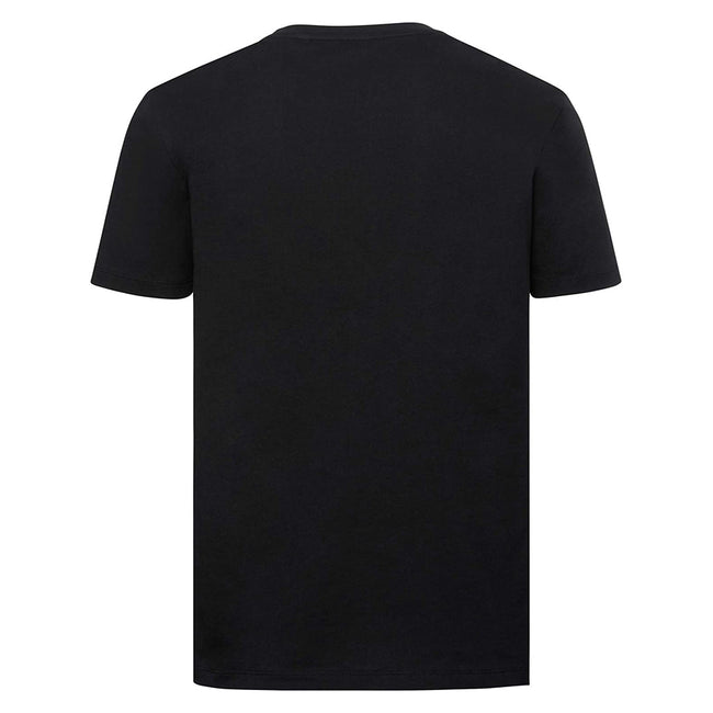 White - Back - Russell Mens Pure Organic Short-Sleeved T-Shirt
