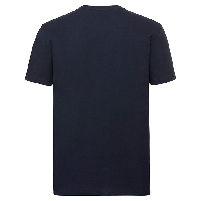 French Navy - Back - Russell Mens Pure Organic Short-Sleeved T-Shirt