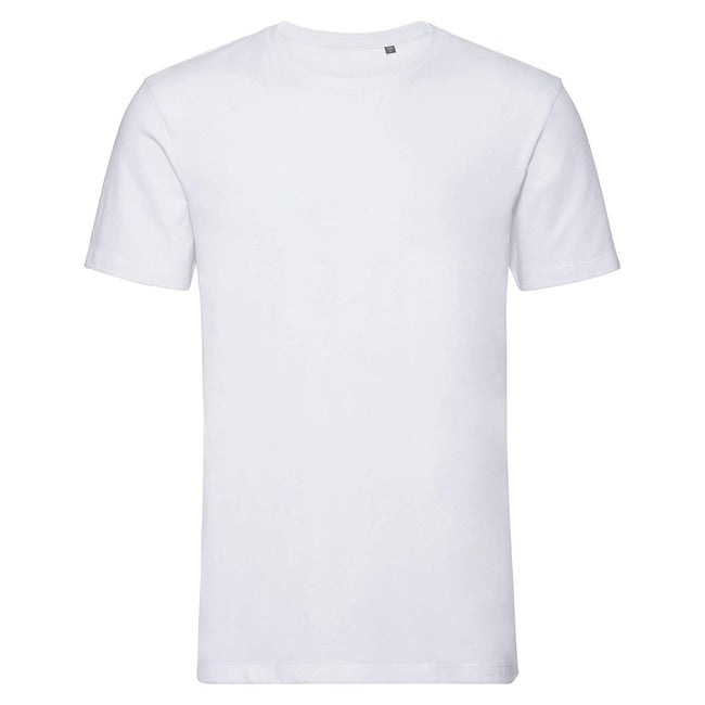 Black - Front - Russell Mens Pure Organic Short-Sleeved T-Shirt