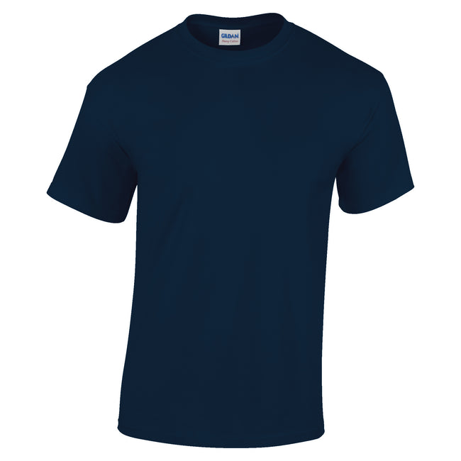Navy - Front - Gildan Youth Unisex Heavy Cotton T-Shirt