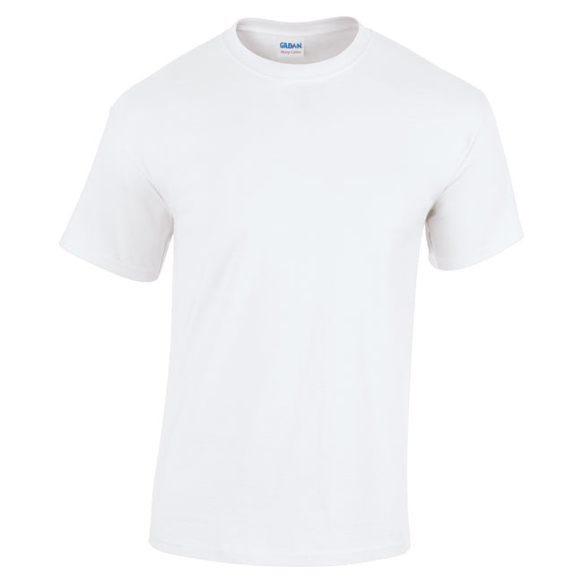 White - Front - Gildan Youth Unisex Heavy Cotton T-Shirt