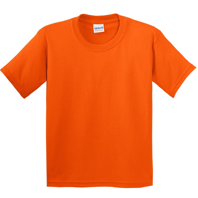 Orange - Front - Gildan Youth Unisex Heavy Cotton T-Shirt